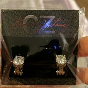 💎CZ byKenneth Jay Lane 💎 clip on solitaires